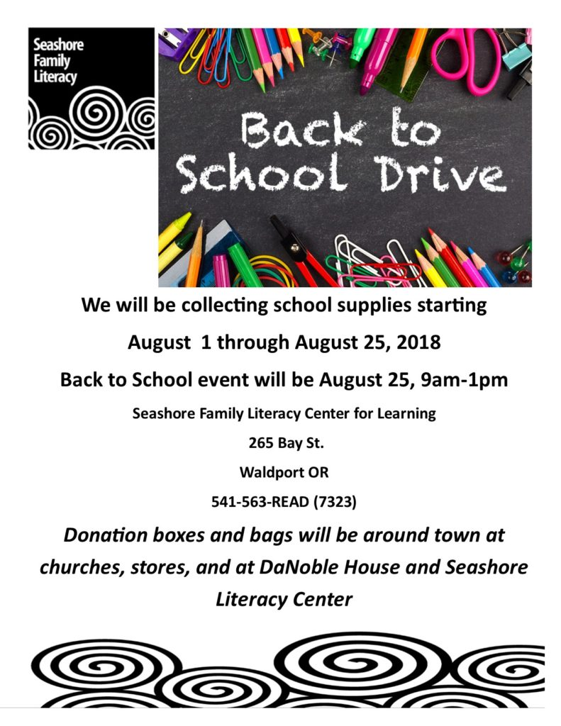 Seashore Family Literacy Center for Learning Back to School Drive