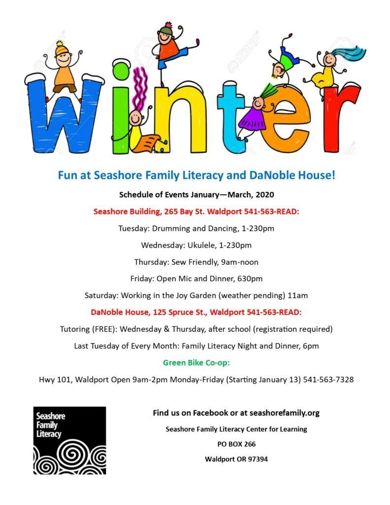 Winter Events at Seashore Family Literacy